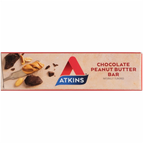 Atkins Chocolate Peanut Butter Meal Replacement Bars Perspective: top