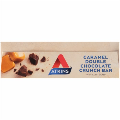Atkins® Caramel Double Chocolate Crunch Bars Perspective: top
