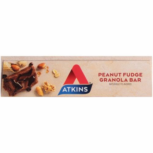 Atkins® Protein-Rich Peanut Fudge Granola Meal Bars Perspective: top