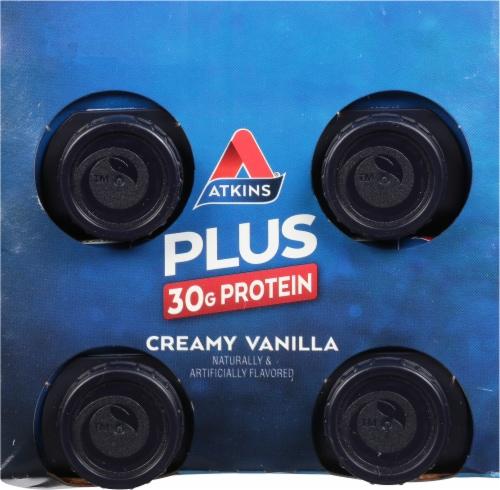 Atkins Plus Protein & Fiber Creamy Vanilla Shake Perspective: top