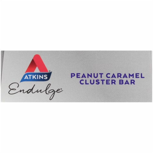 Atkins Endulge Peanut Caramel Cluster Treat Bars Perspective: top