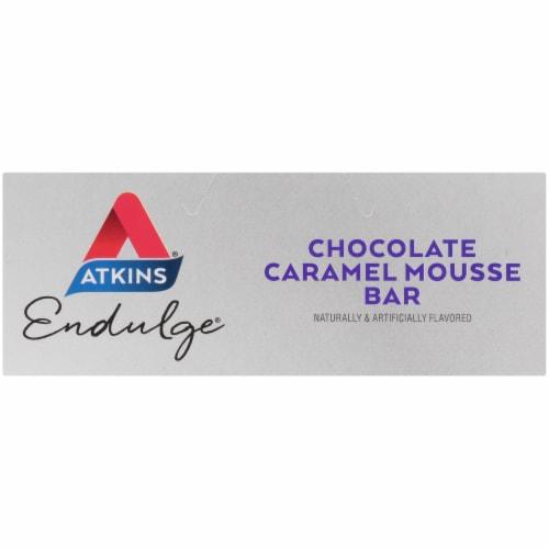 Atkins Endulge Chocolate Caramel Mousse Treat Bar 5 Count Perspective: top