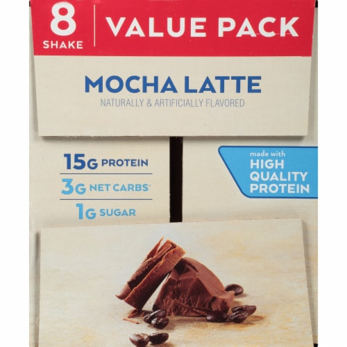 Atkins Ready to Drink Mocha Latte Protein Rich Shakes - 8 Count Perspective: top