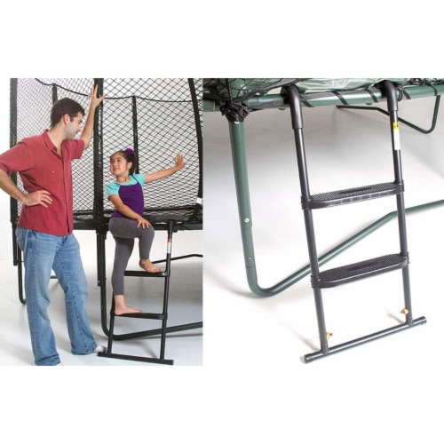JumpSport SureStep Removable 2-Step Trampoline Safety Ladder - Easy to Attach Perspective: top