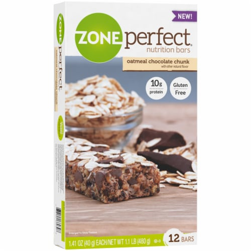 ZonePerfect Oatmeal Chocolate Chunk Nutrition Bars Perspective: top