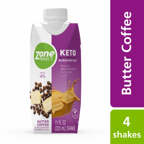 ZonePerfect Keto Butter Coffee Protein Shakes Perspective: top