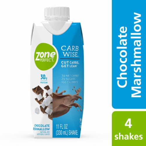 ZonePerfect Carb Wise Chocolate Marshmallow Protein Shakes Perspective: top