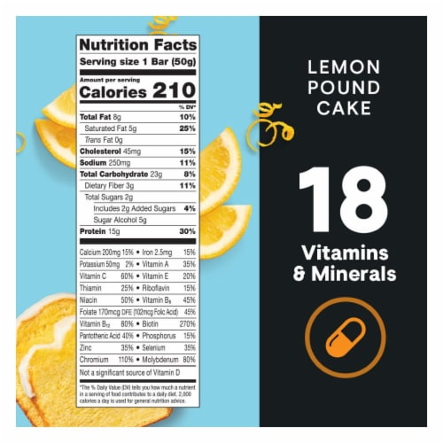 ZonePerfect Macros Lemon Pound Cake Protein Bars Perspective: top