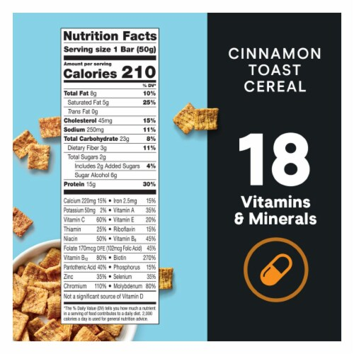 ZonePerfect Macros Cinnamon Toast Cereal Protein Bar Perspective: top