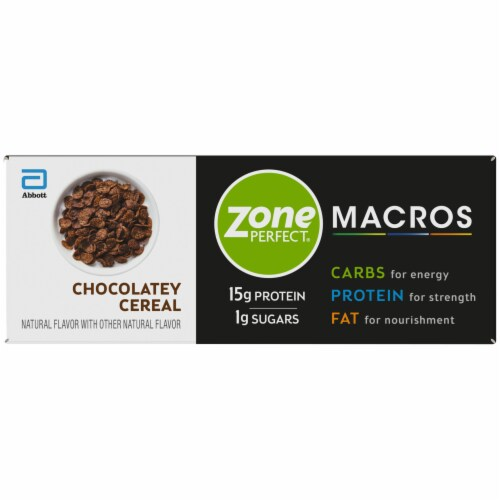ZonePerfect Macros Chocolatey Cereal Protein Bars Perspective: top