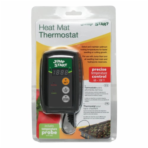 Jump Start MTPRTC Hydroponic Seedling Heat Mat Digital Thermostat Controller Perspective: top