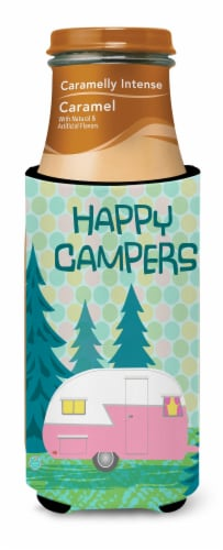 Happy Campers Glamping Trailer Ultra Beverage Insulators for slim cans Perspective: top