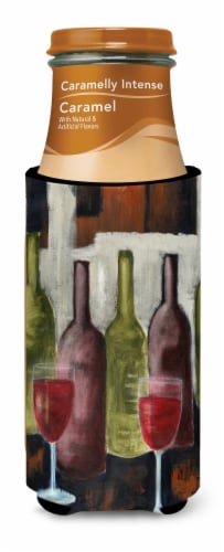 Red Wine by Petrina Sutton Ultra Beverage Insulators for slim cans Perspective: top