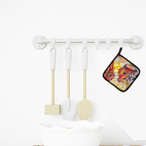 Carolines Treasures  8719PTHD Lobster with Old Bay Pair of Pot Holders Perspective: top