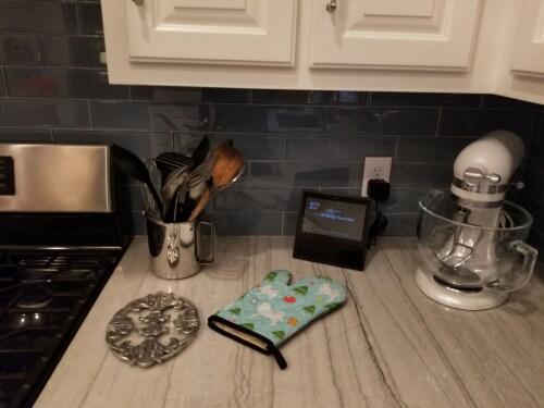 Carolines Treasures  BB4883OVMT Christmas Samoyed Oven Mitt Perspective: top