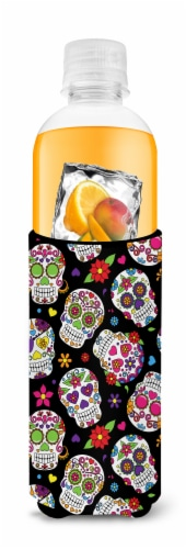 Day of the Dead Black Michelob Ultra Hugger for slim cans Perspective: top