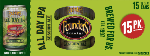 Founders Brewing All Day IPA Perspective: top