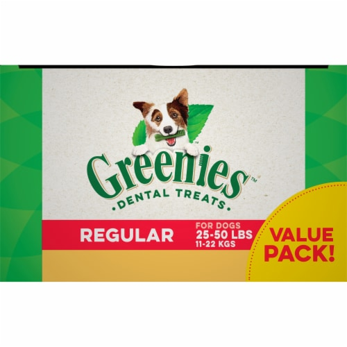 Greenies Grain Free Regular Dog Dental Treats Value Pack Perspective: top
