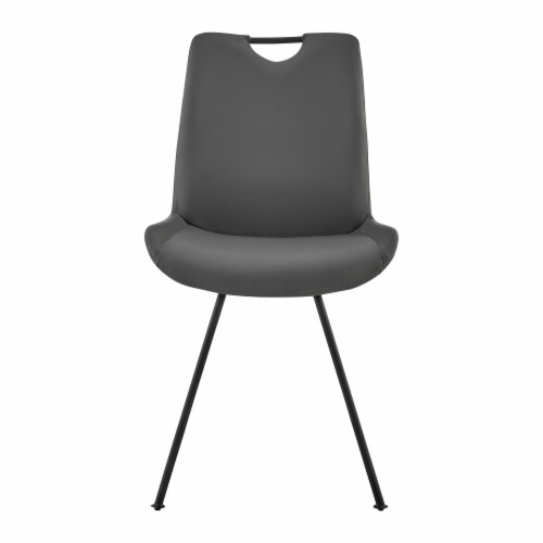 Armen Living Coronado Faux Leather Dining Side Chair (Set of 2) Perspective: top