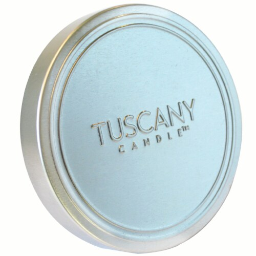Tuscany Candle Lemon Vanilla Scented Triple Pour Jar Candle Perspective: top