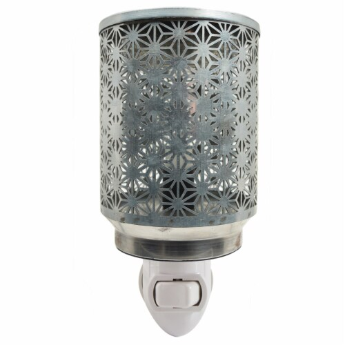 Tuscany Galvanized Metal Outlet Wax Warmer Perspective: top