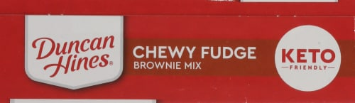 Duncan Hines Keto Friendly Chewy Fudge Brownie Mix Perspective: top