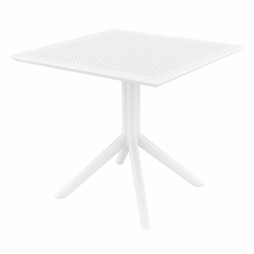 Compamia Sky 3 Piece Patio Bistro Set in White Perspective: top