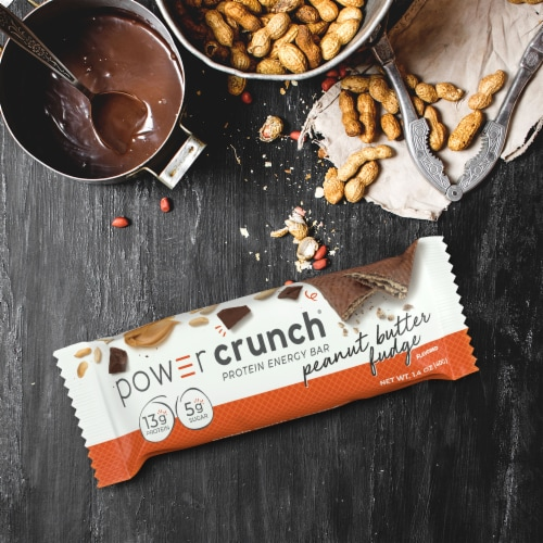 Power Crunch Peanut Butter Fudge Protein Energy Bar Perspective: top
