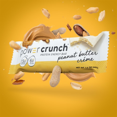 Power Crunch Peanut Butter Creme Energy Bars Perspective: top
