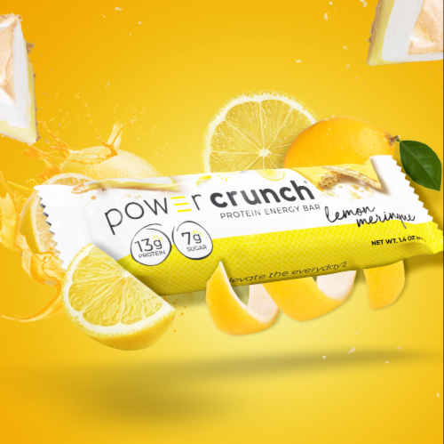 Power Crunch® Lemon Meringue Protein Energy Bar Perspective: top