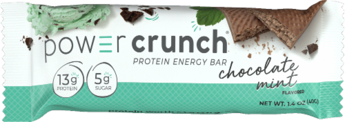 Power Crunch Chocolate Mint Protein Energy Bars Perspective: top