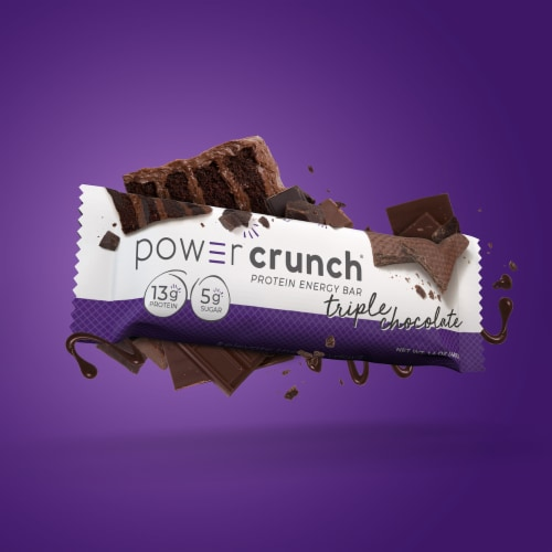 Power Crunch Triple Chocolate Protein Energy Bars Perspective: top