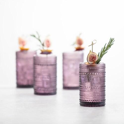 FORTESSA D&V Jupiter Iced Beverage Cocktail Glasses - 6 Pack - Purple Perspective: top