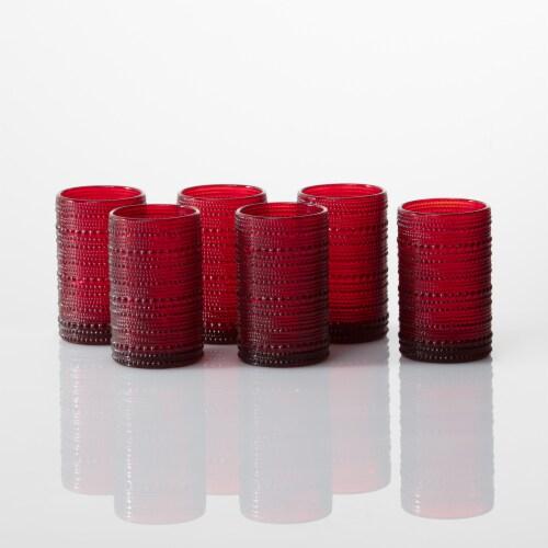 FORTESSA D&V Jupiter Iced Beverage Cocktail Glasses - 6 Pack - Red Perspective: top