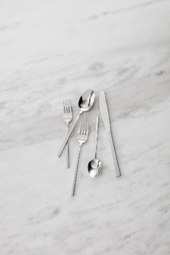 FORTESSA Theo Collection Stainless Steel Flatware Set Perspective: top