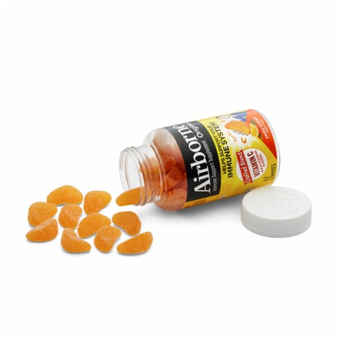 Airborne Zesty Orange Vitamin C Immune Support Supplement Gummies 42 Count Perspective: top