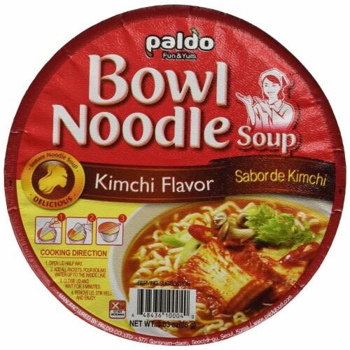 Paldo Kimchi Noodle Soup Bowl Perspective: top