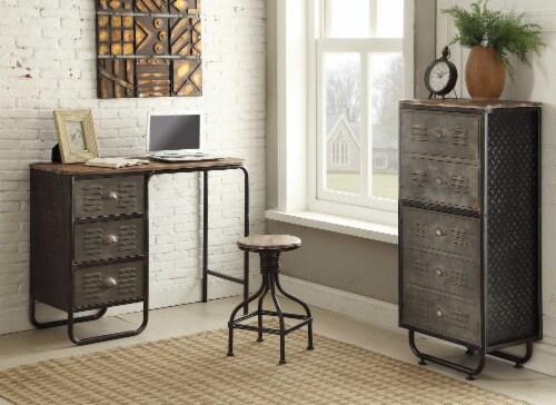 4D Concepts Urban Loft Locker 2 Door Metal Bookcase in Black and Gray Perspective: top