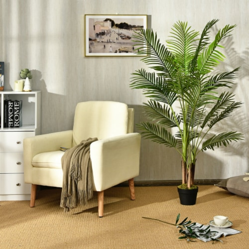Gymax 5Ft Artificial Phoenix Palm Tree Plant for Indoor Home Office Decoration Perspective: top