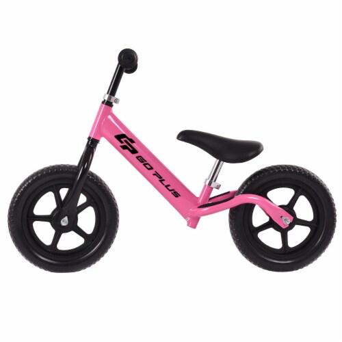 Goplus 12'' Balance Bike Classic Kids No-Pedal Learn To Ride Pre Bike w/ Adjustable Seat Perspective: top