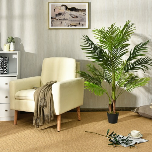 Gymax 4.3Ft Artificial Phoenix Palm Tree Plant for Indoor Home Office Store Perspective: top