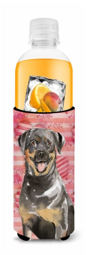 Love a Rottweiler Michelob Ultra Hugger for slim cans Perspective: top