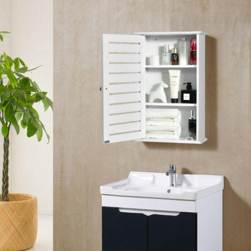 Gymax Wall Mount Medicine Cabinet Multifunction Storage Organizer Bathroom Kitchen Perspective: top