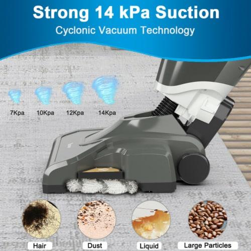 Costway Lightweight Upright Vacuum Cleaner Steam Mop Wet-Dry Vacuum Perspective: top
