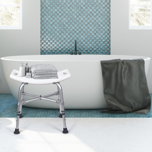 Costway Shower Chair Bath Stool 6 Adjustable Height Bathtub Seat Transfer Bench Non-Slip Perspective: top