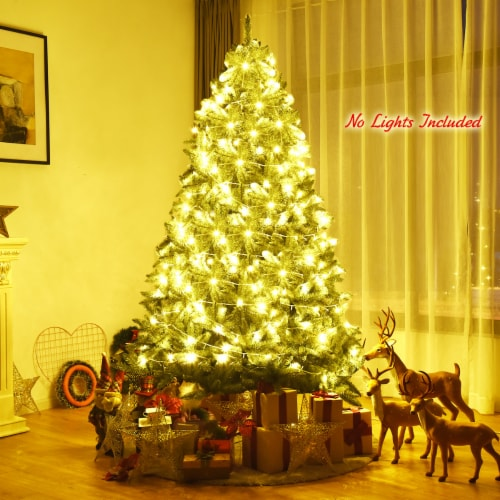 Costway 7.5ft Artificial Christmas Fir Tree 1968 Branch Tips Perspective: top