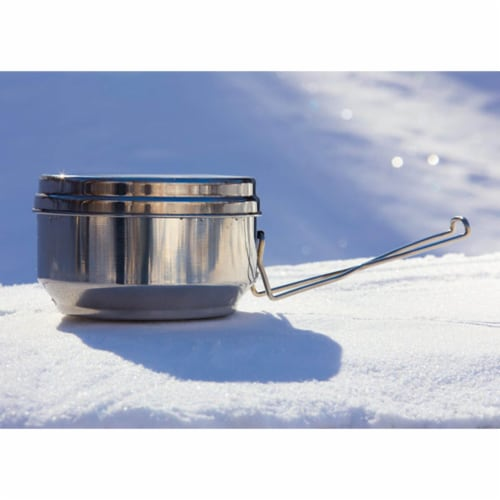 QuickStove Portable Stainless Steel Camp Cook Pot Perspective: top