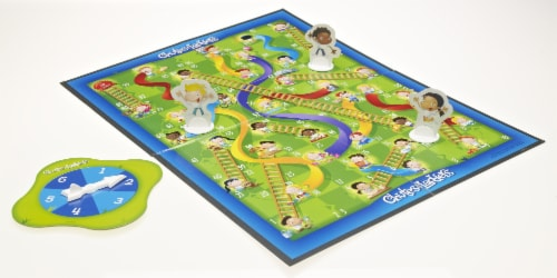 Hasbro Chutes and Ladders Game Perspective: top