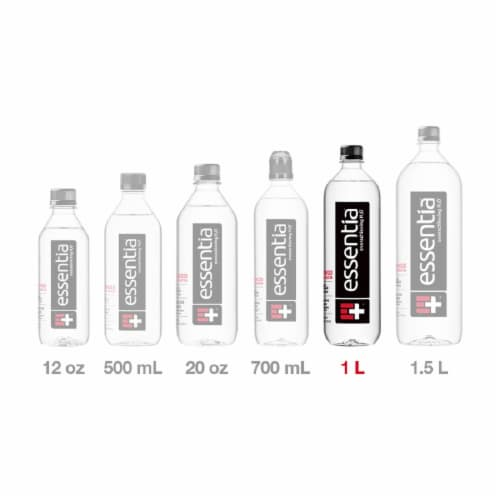 Essentia Purified Alkaline Water with Electrolytes Perspective: top