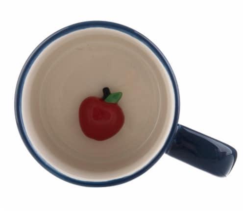 Pacific Market International Best Teacher Ever Ceramic Mug Perspective: top